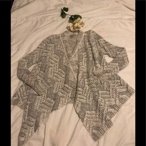 Lucky Brand knit cardigan with silver accents